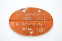 Kriegsmarine 'Küstendienst Land' Erkennungsmarke 1943