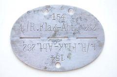 4./R.Flak-Abt.262 Erkennungsmarke