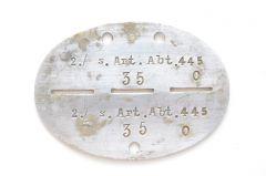 2./s.Art.Abt.445 Erkennungsmarke