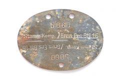 Stamm Komp./Gren.Ers.Btl.16 Erkennungsmarke (Venlo)