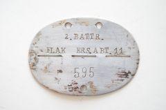 2.BATTR.Flak.Ers.Abt.11 Erkennungsmarke