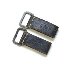 Pair of Matching Leather D-Rings (RBNr.)