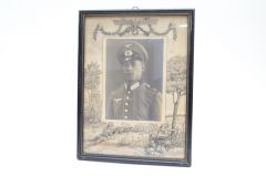 Decorative Period Framed Inf.Rgt.55 Soldier's Portrait