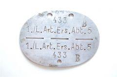 1./L.Art.Ers.Abt.5 Erkennugsmarke