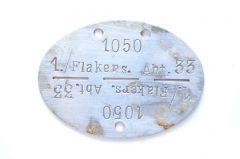 1./Flak.Ers.Abt.33 Erkennungsmarke (Weimar)