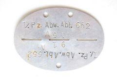 1/.Pz.Abw.Abt.652 Erkennungsmarke