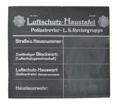 Luftschutz 'Haustafel' Sign