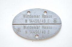 Named Kriegsmarine Erkennungsmarke (E)
