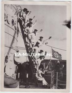 """Kriegsmarine ''Schleswig Holstein in Engeland"""" Press Photo"""