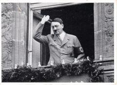 Adolf Hitler 'Balcony' Photo Postcard