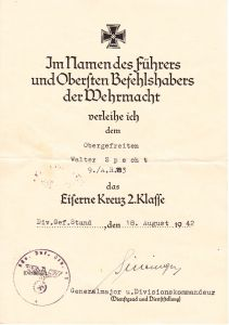 Art.Rgt.183 EK2 Award Document
