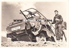 Waffen-ss ''Panzerspähwagen nach dem Einsatz'' Postcard