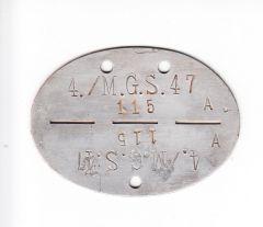 4./MG.S.Btl.47 Erkennungsmarke