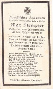 Fallschirmjäger Death Notice (Nettuno 1944)