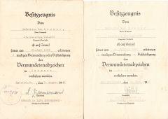 13.(I.G.)Inf.Rgt.420 Award Document Set