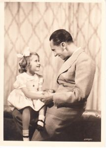 Joseph Goebbels with Daughter Hedda Postcard