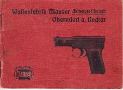 Rare WW1 Era Mauser Model 1914 Manual
