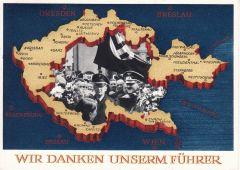 'Wir danken unserm Führer' Postcard