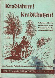 Kradfahrer! Kradschützen! Instruction Book (1937)