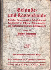 Gelände und Kartenkunde für Offiziere 1939