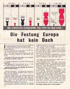 Flugblätter 'Die Festung Europa hat kein Dach' (1943)