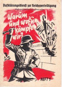 'Warum und wofür kämpfen wir?' Booklet