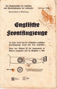LW Issued 'Englische Frontflugzeuge' Recognition Flyer
