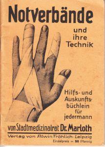 'Notverbände und ihre Technik' Booklet