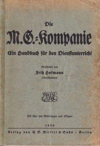 'M.G. Kompanie' Handbuch (1939)