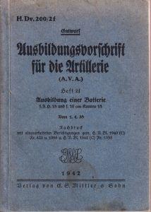 Ausbildungsvorschrift für die Artillerie 1942