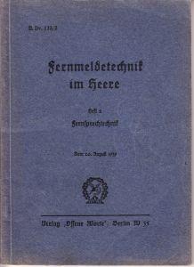 'Fernmeldetechnik im Heere' Booklet (1939)