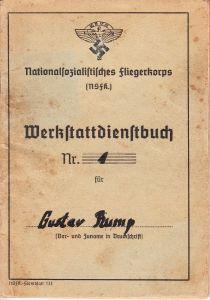 NSFK Werkstattdienstbuch (HJ) 1940
