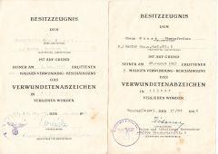 Werf-Rgt 55 VWA Silver & Black Award Document Set