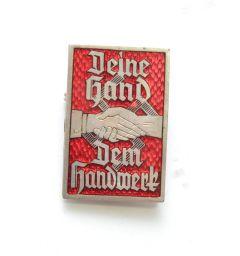 Deine hand Dem handwerk badge