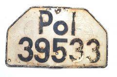 Polizei Vehicle License Plate